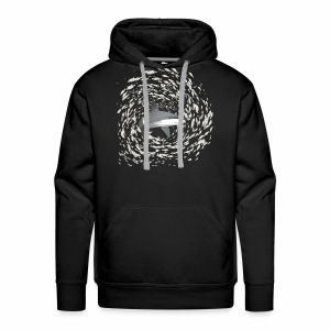 Shark and school of fish - Men's Premium Hoodie