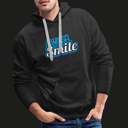 There is alwas a reason to smile - blau - Männer Premium Hoodie