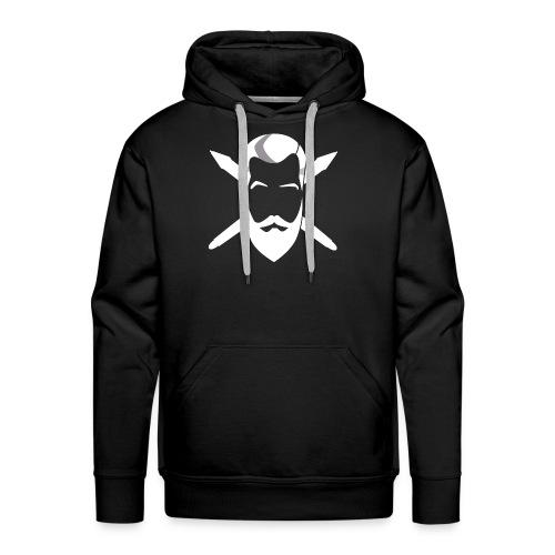 PixelZorn Emblem weiss - Männer Premium Hoodie