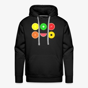DIGITAL FRUITS - Digitale Hipster Früchte - Männer Premium Hoodie