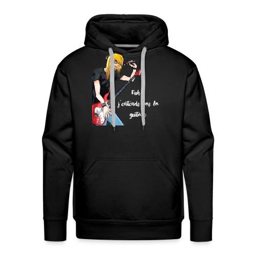 J'entends pas la guitare ! - Sweat-shirt à capuche Premium pour hommes
