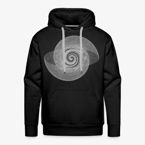 spiral lines - Felpa con cappuccio premium da uomo