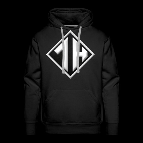 OneHourGuy Logo (Black & White) - Men's Premium Hoodie