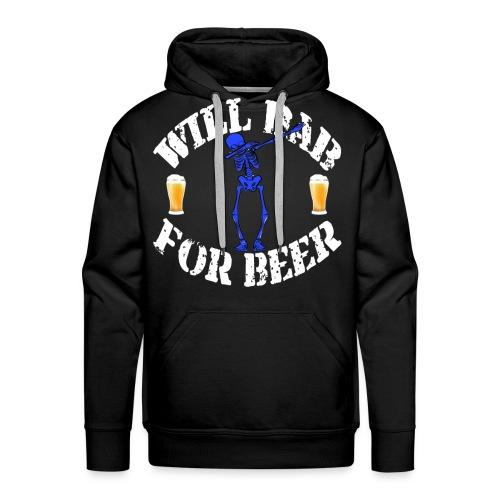 Funny Halloween Blue Skeleton Will For Beer. Beer Lover Gift - Men's Premium Hoodie