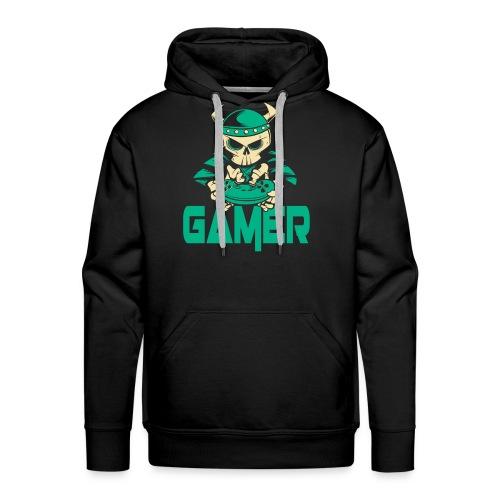 gamer skelett wikinger - Männer Premium Hoodie