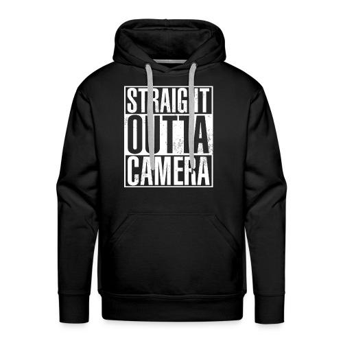 Straight Outta Camera - Black - Männer Premium Hoodie