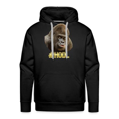 Gorilla #HODL Gold - Männer Premium Hoodie