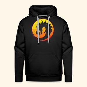 Flaming Dragon Retro - Men's Premium Hoodie