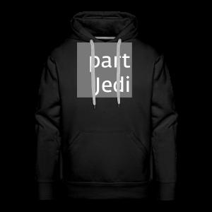 part Jedi white on 50%grey - Männer Premium Hoodie
