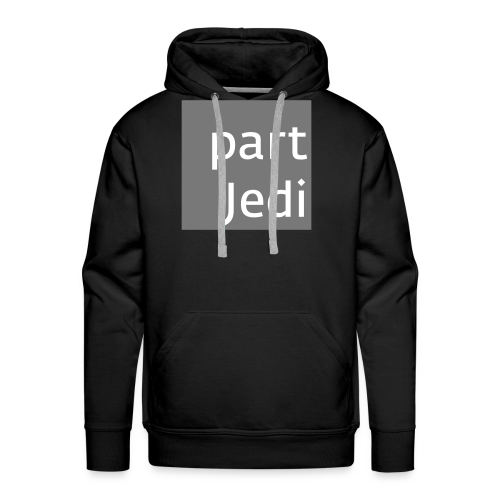 part Jedi white on 50%grey - Männer Premium Hoodie
