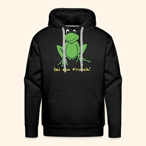 Ein kleiner grüner Frosch! - Männer Premium Hoodie