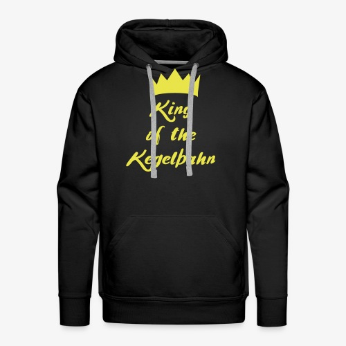 King of the Kegelbahn - Männer Premium Hoodie