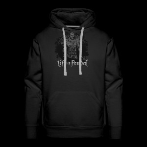 Life is Feudal SteamBadge 2 - Sweat-shirt à capuche Premium pour hommes
