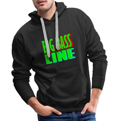 big bass line line - Men's Premium Hoodie