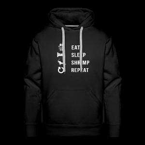 EAT SLEEP SHRIMP REPEAT [BLANC] - Sweat-shirt à capuche Premium pour hommes
