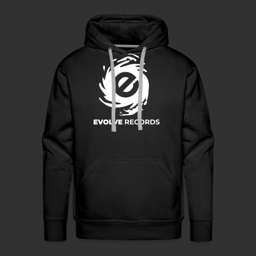 EVOLVE RECORDS - WHITE - Men's Premium Hoodie