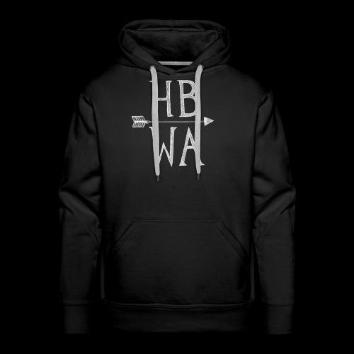 HBWA Logo Weiß - Männer Premium Hoodie