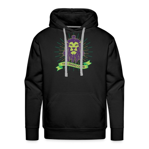 Man / Mane Club - Mann / Mähne Club Green Purple - Männer Premium Hoodie