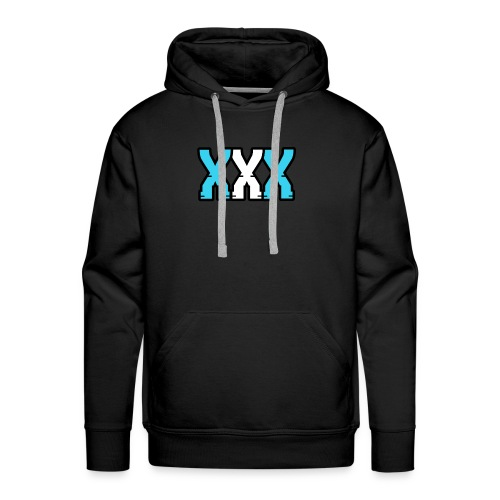 XXX (Blue + White) - Men's Premium Hoodie