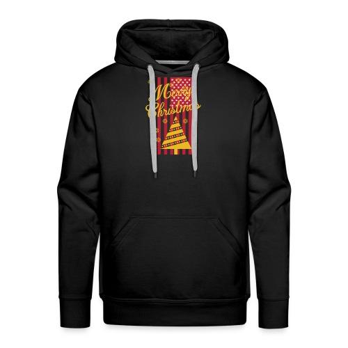 Merry Christmas USA T-Shirt - Männer Premium Hoodie