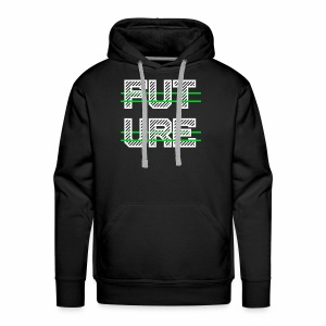 Future Clothing - Green Strips (White Text) - Men's Premium Hoodie