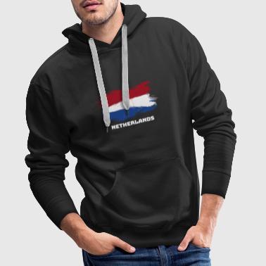 Nederländerna Holland flagga flagga - Premiumluvtröja herr