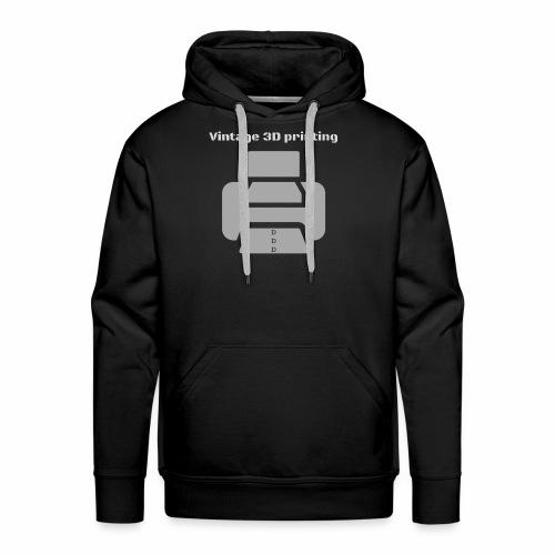Vintage 3D printing - Männer Premium Hoodie