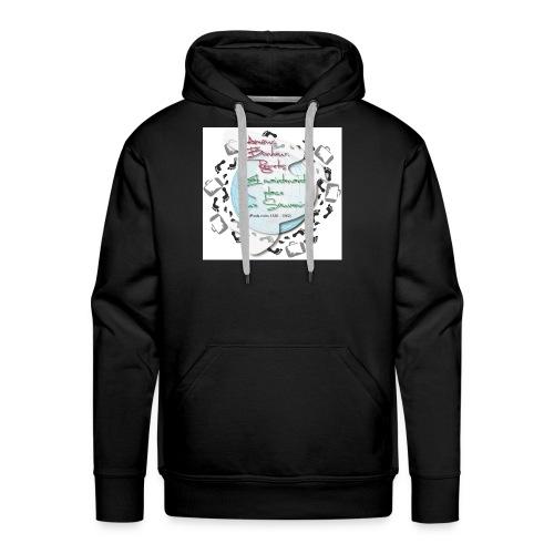 souvenirs pieds noirs - Sweat-shirt à capuche Premium pour hommes