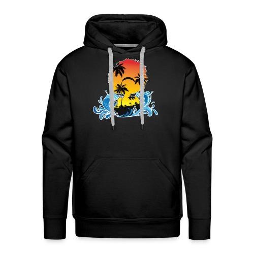 afro woman island - Sweat-shirt à capuche Premium pour hommes