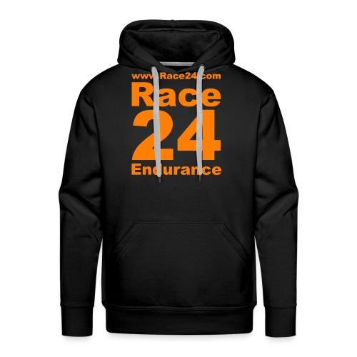 Race24 Logo in Orange - Men's Premium Hoodie