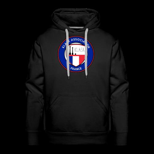 logo klask france 9 - Sweat-shirt à capuche Premium pour hommes