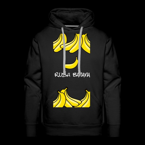 rushbananawhite - Bluza męska Premium z kapturem