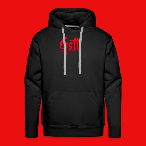 Gstl Red Logo - Men's Premium Hoodie