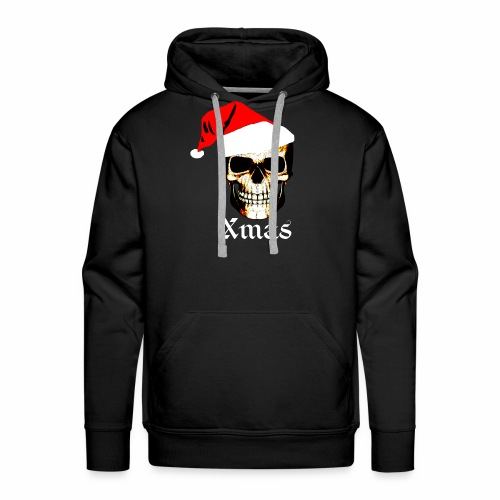 Totenkopf weihnachtsmann Santa, Nikolau,Party Fun - Männer Premium Hoodie