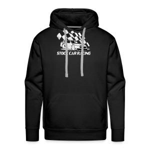 Stock Car Racing car and flag - Men's Premium Hoodie