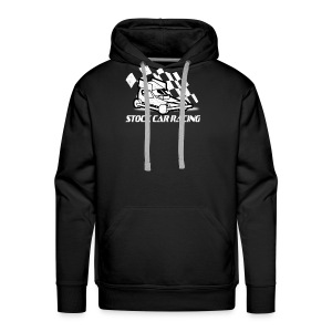 Stock Car with chequered flag - Men's Premium Hoodie