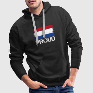 Prideflagga, flagga infödda ursprung Holland png - Premiumluvtröja herr