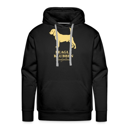 guld logo - Herre Premium hættetrøje