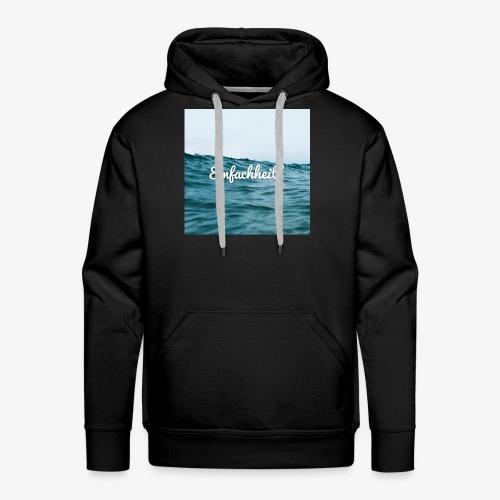 Einfachheit Meer - Männer Premium Hoodie