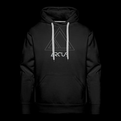 Arcus logo Blanc - Sweat-shirt à capuche Premium pour hommes