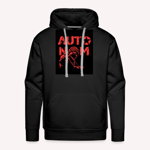 Autonom in ROT - Männer Premium Hoodie