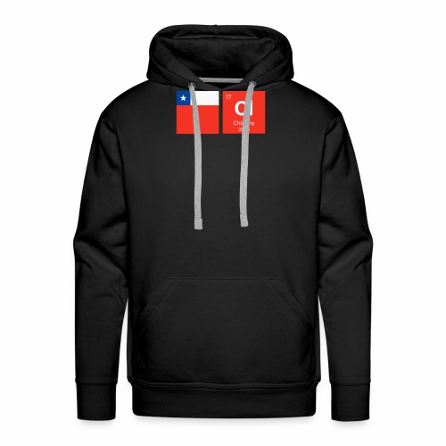 Chile Flag Cl Chemical Element Periodic Table - Men's Premium Hoodie