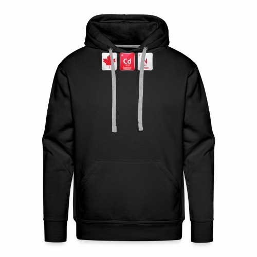 Canada Flag CdN Chemical Element Periodic Table - Men's Premium Hoodie
