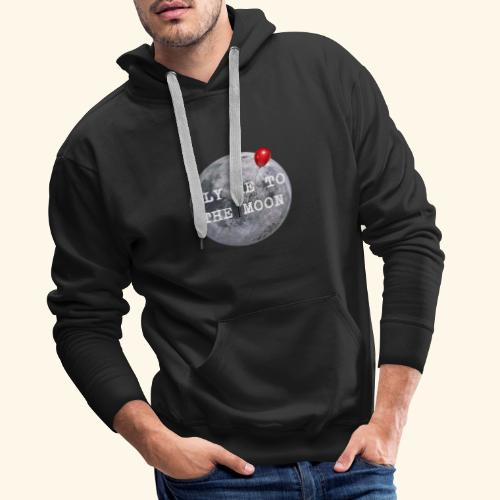 fly me to the moon... with a baloon - Männer Premium Hoodie