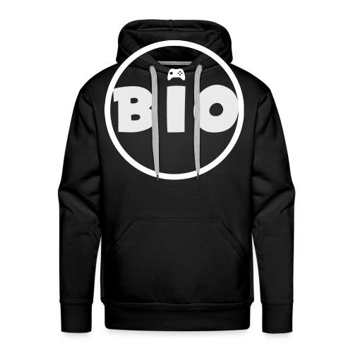 WHITE LOGO - Mannen Premium hoodie
