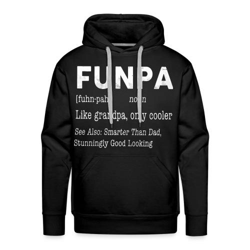 Funpa like grandpa only cooler - Men's Premium Hoodie