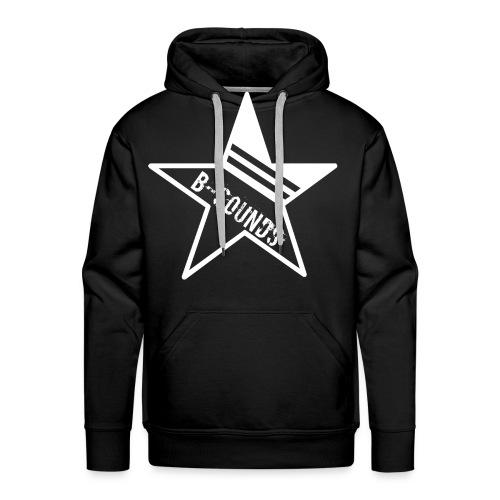 B-SOUNDS LOGO WHITE - Mannen Premium hoodie