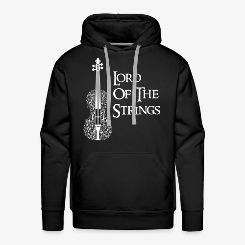 Lord of the Strings T-Shirt Englisch Violine - Männer Premium Hoodie