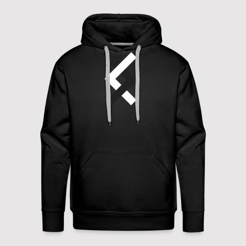 DANE - Black & White - Men's Premium Hoodie