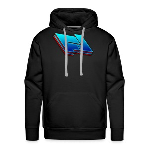 red and blue Fox Leader Logo - Men's Premium Hoodie